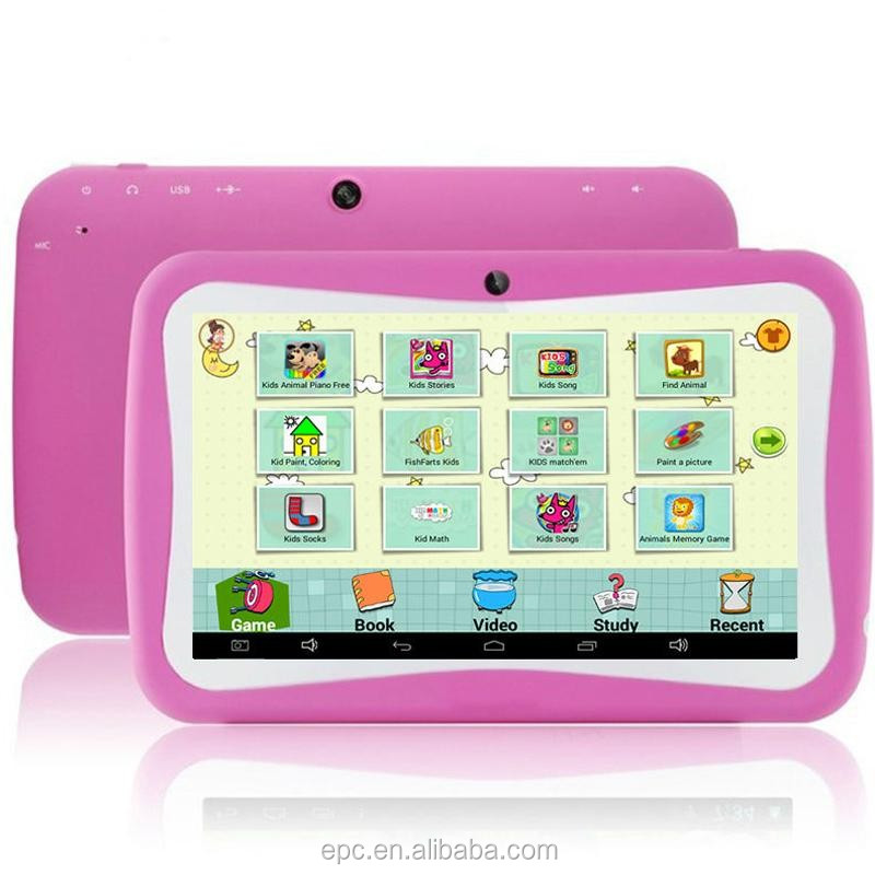 Christmas gift 7 inch tablet pc rk3126 quad core capacitive multi touch android 5.1 512MB 8GB Childrens Tablets