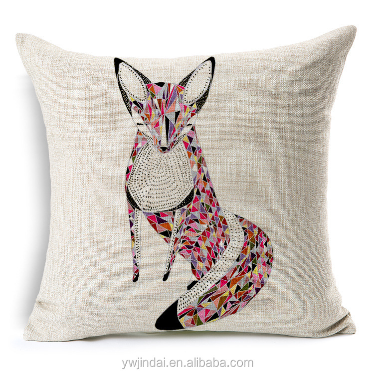 Fashion Sofa Pillow Fox Color Stitching Pillowcase Sofa Car Almohada Caso De La Cubierta Del Amortiguador Del Tiro