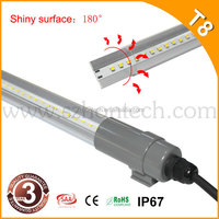 waterproof tube light special suitable use in car washing station, 6000K waterproof tube light fitting