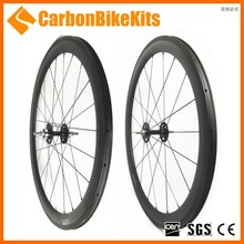 Custom decals 700c bike carbon track wheel 50mm clincher with alloy hubs