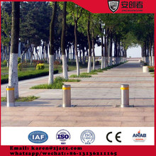 Traffic Automatic Rising Bollards with base plate and Flashing Lights
