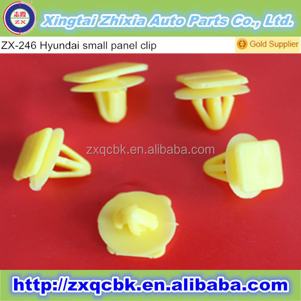 2016 hot sale! China ZX-factory produce all yellow auto plastic panel trim clips fastener