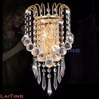 Modern indoor crystal wall lamp fixture for living room 32432