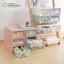 Plastic living room Cabinets clear Storage box for classification