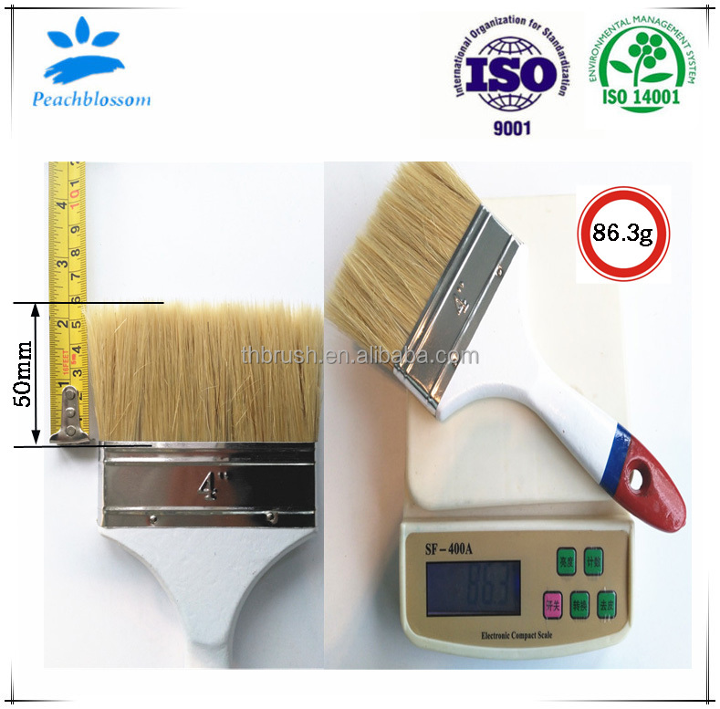 Pure Bristle Paint Brush Without Filament Wooden Handle Manufacturer