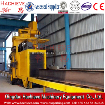 Q698 H beam shot blasting machine /sand blasting equipment