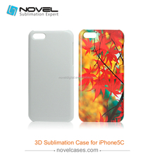 Popular 3D sublimation mobile phone case for iphone 5C, DIY phone case