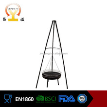Total height 165cm balcony hanging charcoal rotating chicken grill machine