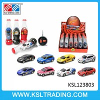 Lovely 1:63 4 channel coke can mini rc car with music and dance