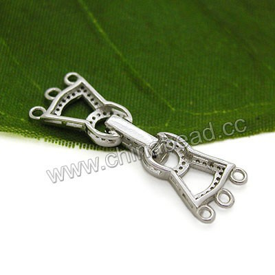 Fashion fold over clasp 925 sterling silver jewelry findings clasps