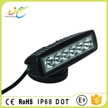 6pcs*3W LEDs spot flood auto work lamp 6inch 18W led driving head light for offroad truck