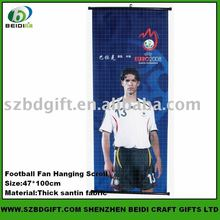 Football Fan Hanging scroll