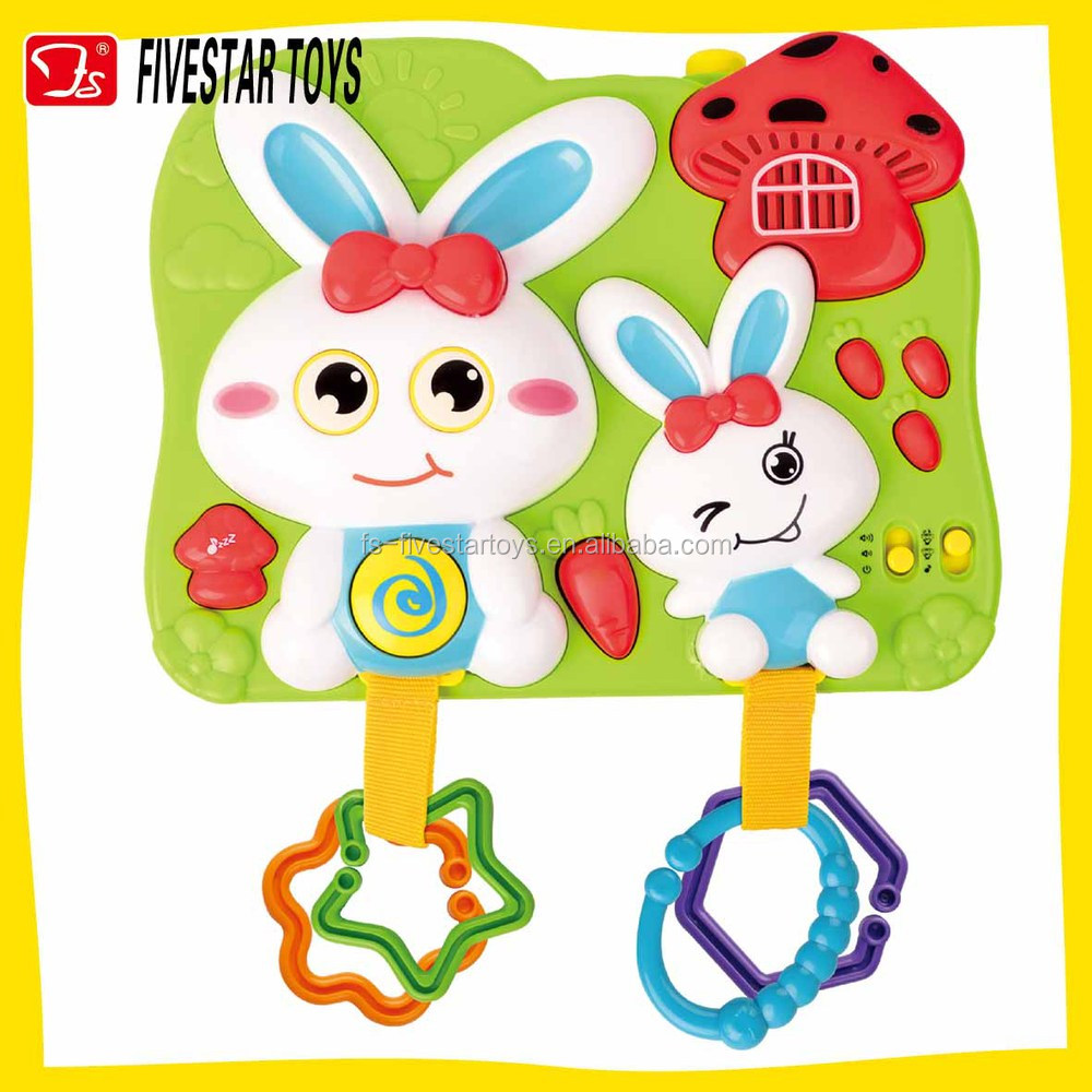 New design rabbit learning machine musical projection toy for kids