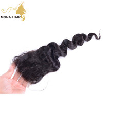Best quality soft no chemical process loose wave lace fronal guangzhou brazilian hair