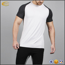 2017 Wholesale Custom Logo Breathable Reglan Sleeve Workout Men's Fitness T Shirts
