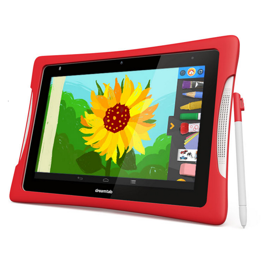 School Learning PC Students Andoird Shockproof Kids Tablet PC with Silicone Case