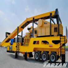 China lead brand iron ore mobile crushing and screening plant with good performance