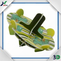3D PP or PE plastic puzzle spinning top 3d toy