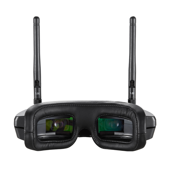 Flysight 5.8GHz HD Diversity Video Goggles SPX02 SpeXman Two 40 Channel FPV Glasses with Front Camera, HDMI Input