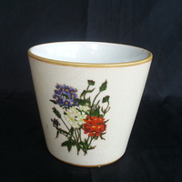 "6"" Porcelain hand Painted garlic planter sale"