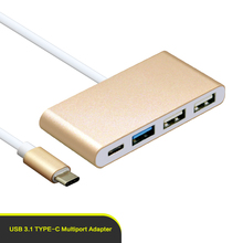 Type C hub one to 4 IN 1 Type C to C / USB 3.0 / dual USB 2.0 hub adapter