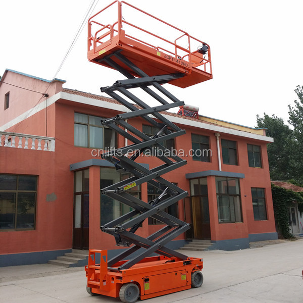 14m China self-propelled hydraulic electric scissor lift
