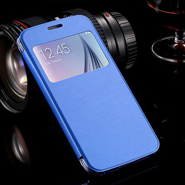 Luxury Leather Matte Transparent Back Shell for Samsung Galaxy A3 A5 A7 Leather Flip Case Cover