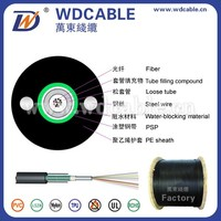 messenger support wiring,central tube type outdoor light-armored fibre cable