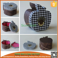 custom made apple shaped cardboard boxes,apple shape paper packaging box with lid