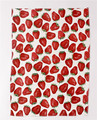 Strawberry customer printed linen fabric kitchen dish towel