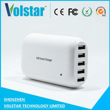 smart ic intelligent portable travel 5 port usb charger wall mount charger