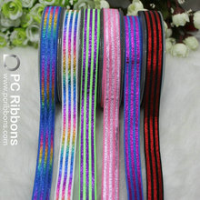 16mm fold over elastic printed colorful stripe elastic ribbon