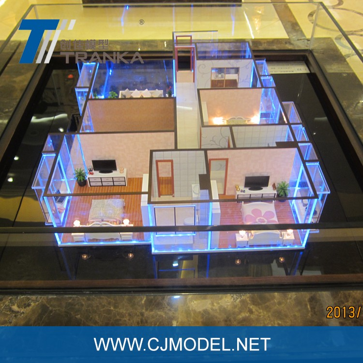 3d architectonische interieur model miniatuur huis model voor koop andere bouw vastgoed product - Huis exterieur model ...