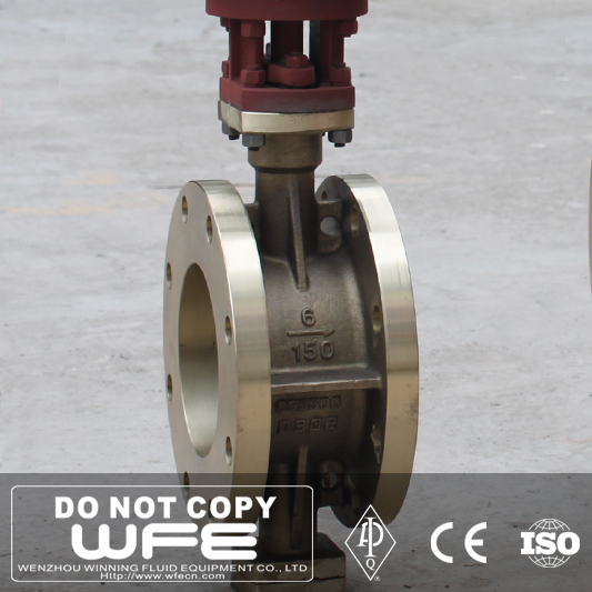 API 609 Carbon Steel WCB Double Eccentric Double Flange Soft Seat Butterfly Valve