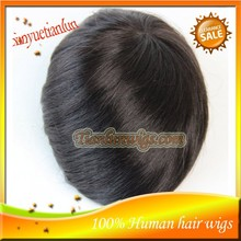 High Quality Cheap 9x7 inch 100% Indian Remy Human Hair Silk Top Men Toupees