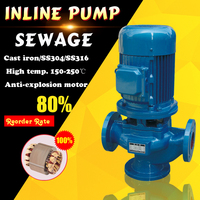 electric inline water pump for dirty water centrifugal industrial water pumps for sale