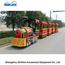 Hot sale mall electric trackless tourist train rides kids and adult electric train