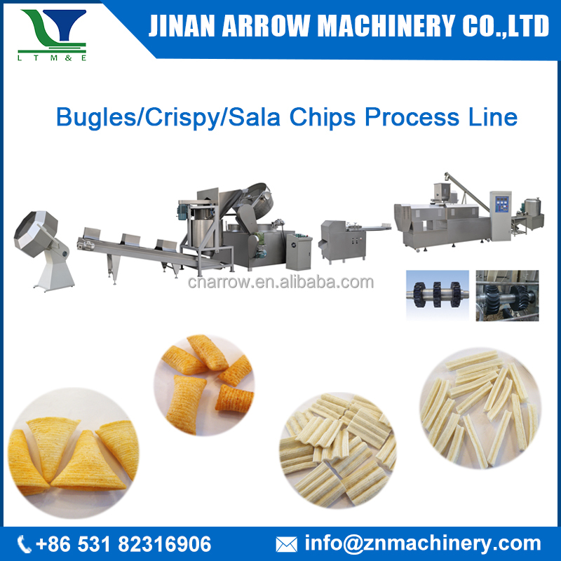 Automatic Fried Crispy Chips/Corn Bugle/Sala Snacks Food Extruder Machine