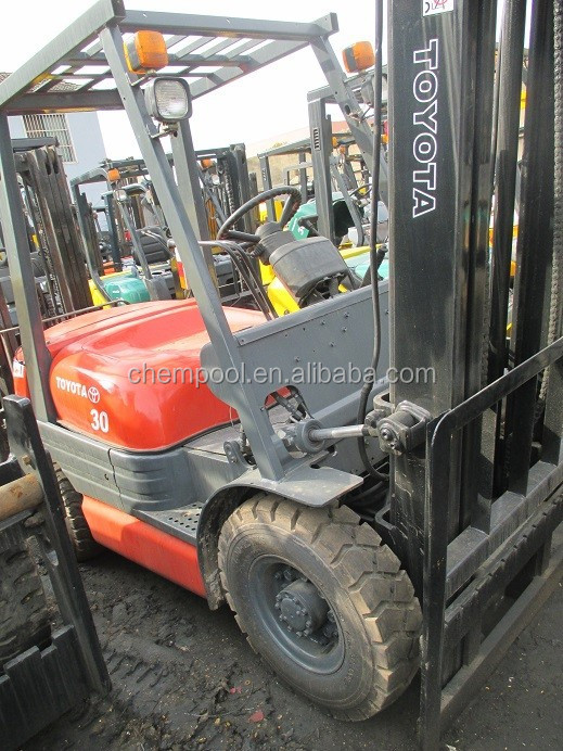 Used hand manual forklift, Toyota 3 ton