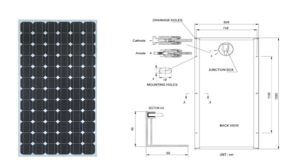 Polycrystalline solar panel 130w 12v luminous panel solar for Solar system fabric panel