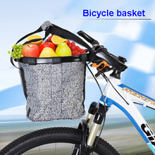 600d polyester removable front bicycle basket with cover