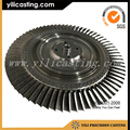 OEM manufacture vacuum casting axial impeller for locomotive turbocharger