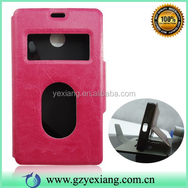 High Quality Flip Mobile Phone Back Cover Cases For Nokia X Leather