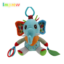 Funny small baby bed hanging toy elephant toys for kids
