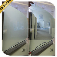 Low Opaque -transparent smart glass, electrical frosted glass low power consumption/ lowest price EB GLASS BRAND
