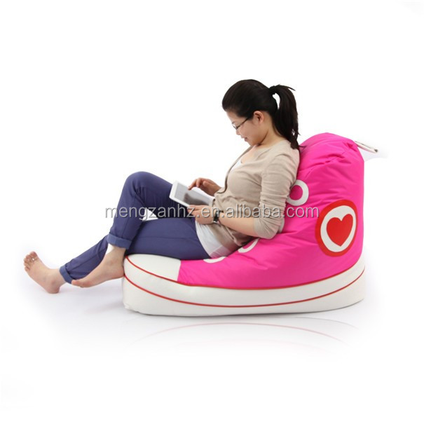 Fashion kids sofa designs shoe bean bag buy bean bag for Zapatos para sillas