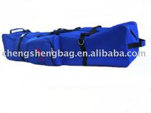 Nylon blue golf bag case with wheels