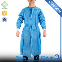 Custom Made ISO, CE, SGS Certified Nonwoven disposable gown hospital