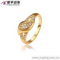 13017- xuping new arriva low price color class diamond cock rings fancy gold indian wedding ring design