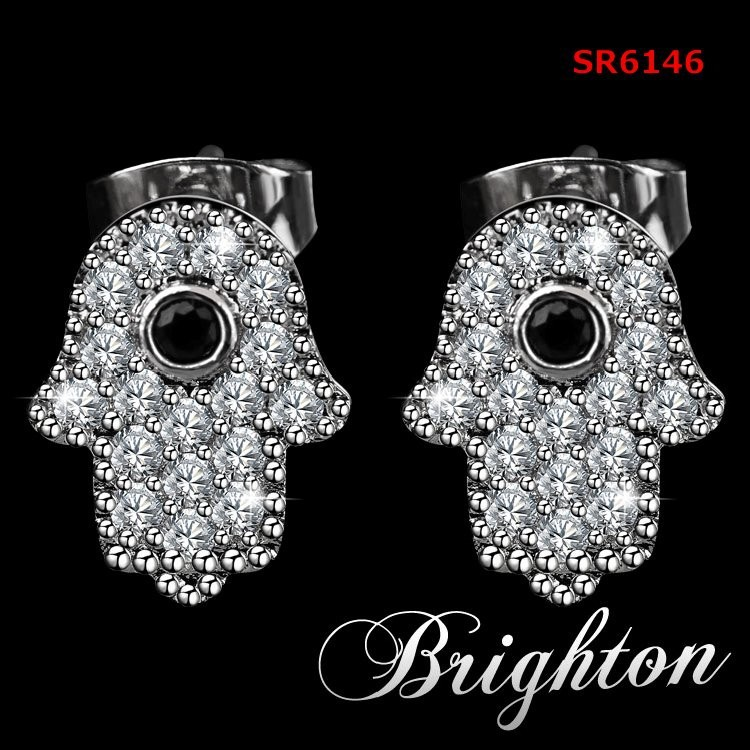 Alibaba express Latest design Korean earrings woman, fashion zircon earring wholesale